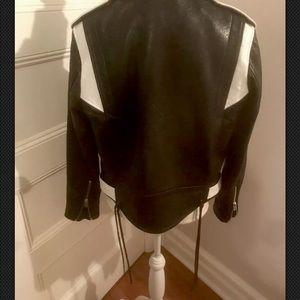 IRO Wamiel Black Leather Moto Jacket FR38
